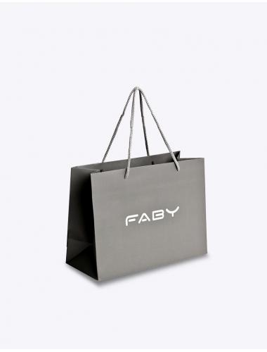 FABY papieren zak grijs - Small