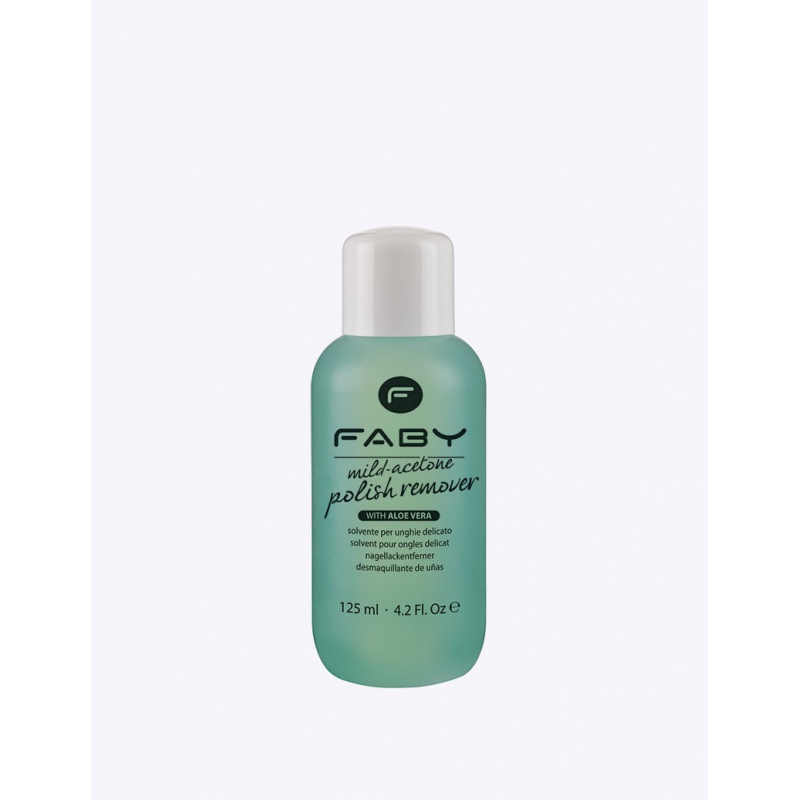 FABY Mild acetone polish remover with aloe vera 125ml