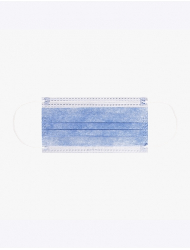 Gezichtsmaskers 50 st. (blauw)